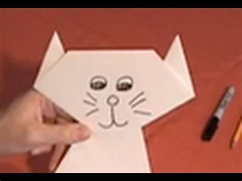 How To Make A Paper Cat - make a paper cat
