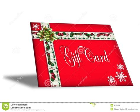 christmas gift card illustration 3d stock illustration