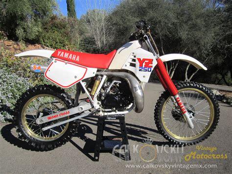 vintage yamaha motocross bikes 1987 yamaha yz 250 vintage motocross dirt bike