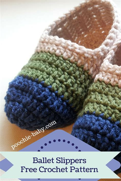 easy crochet slippers free pattern and easy crochet ballet slippers for and