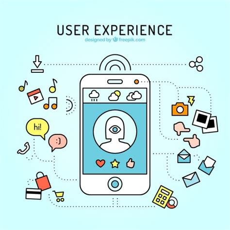 mobile user experience mobile and web elements of user experience in linear style