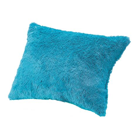 amazon com turquoise teal shaggy shaggy decorative pillow