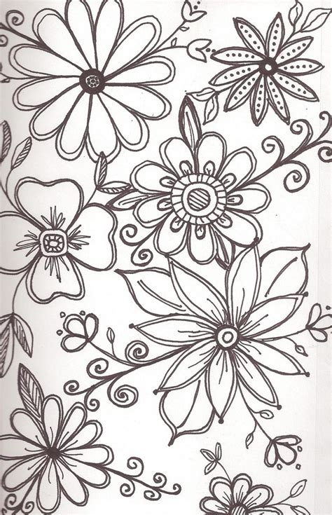 doodle flowers 25 best ideas about flower drawings on flower