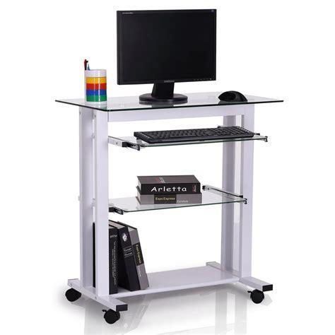 scrivania da lavoro scrivania da lavoro tokin in vetro e metallo color