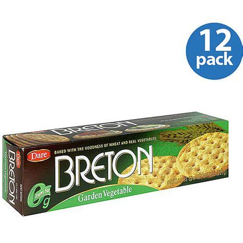Dare Breton Garden Vegetable Crackers 8 Oz Pack Of 12 Garden Vegetable Crackers