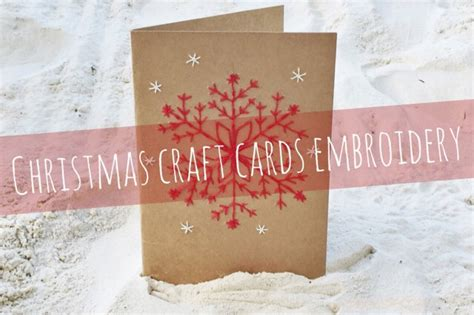 Ikea Hong Kong Gift Card - diy christmas craft card and gift tag embroidery petit bout de chou