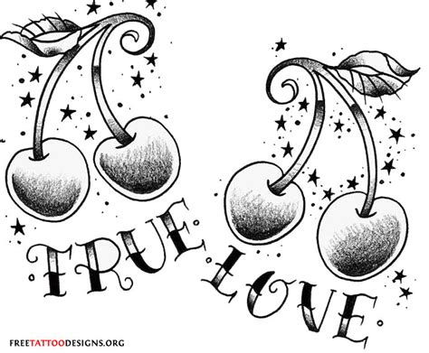 true love tattoo design 55 cherry designs their meaning