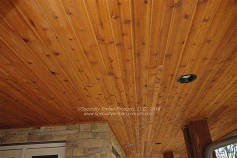 tongue and groove ceiling planks dining room with