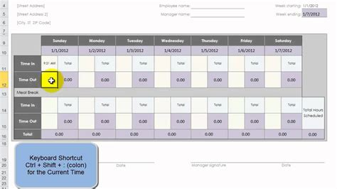 t card template excel use an excel template to create 52 weeks of employee time