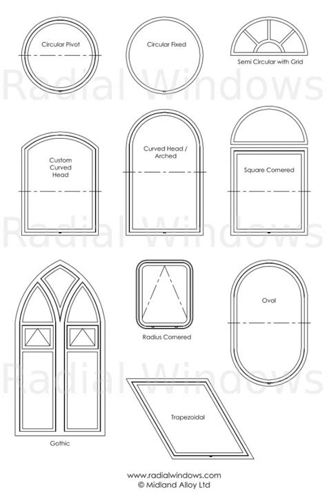 Different Shapes Of Windows Inspiration Windows And Shaped Aluminium Windows Radial Windows