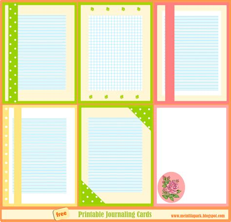 printable stationery cards free printable journaling cards summertime
