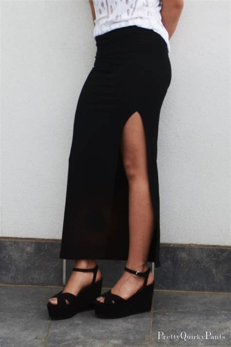 pretty diy split maxi skirt
