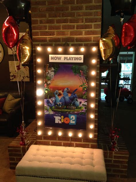 now playing diy quot now playing quot sign for kids movie night party any