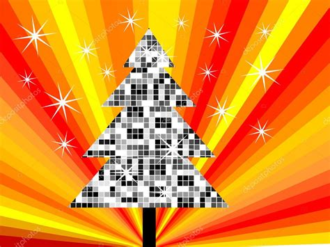 disco christmas tree stock vector 169 andreakaulitzki 2789203
