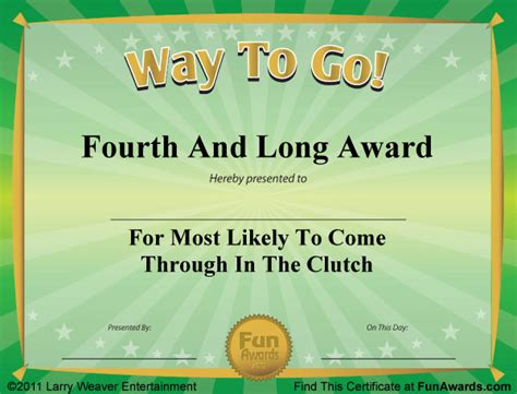 templates for funny awards funny award certificates 101 funny certificates to give