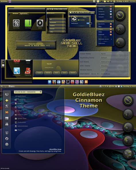 best gnome themes deviantart goldiebluez gnome shell and cinnamon theme by rvc 2011
