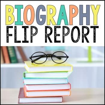 flip book report biography report foldable flip book by davies