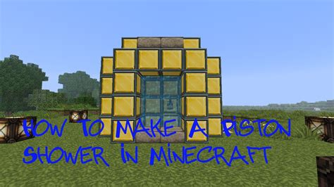 How To Make A Minecraft by How To Make A Minecraft Shower Minecraft Project