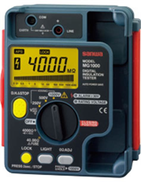 Cl Meter Sanwa Dcl1200r jual insulation testers sanwa mg1000