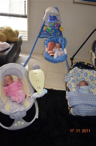 triplet swing advice for surviving with newborn triplets caitlin s