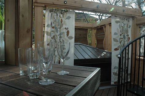 hot tub privacy curtains 1000 images about hot tubs on pinterest seasons the