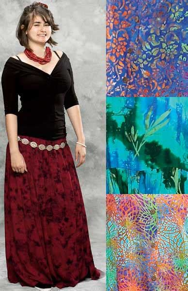 A30131 Animal Floral Top Skirt L Green Import Cotton Dress batik elastic waist skirt turtle island imports