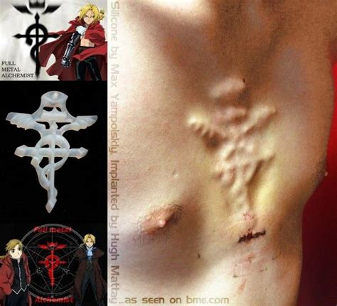 fullmetal alchemist tattoo 18 best mod subdermal implants images on