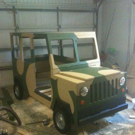 themed toddler beds diy hand made jeep bed could be used in a army