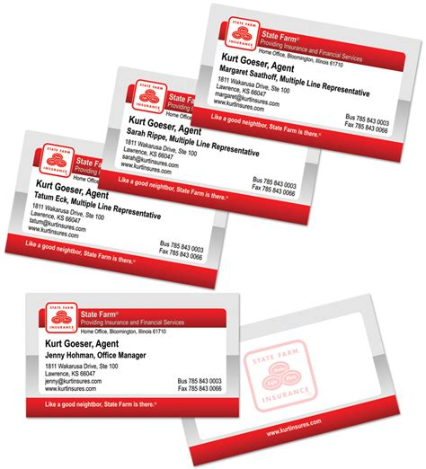 State Farm Business Card Template Best Business Cards State Farm Insurance Card Template