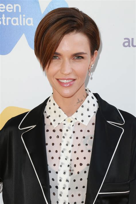 ruby rose before after haircuts short side part lookbook stylebistro