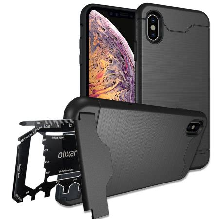 olixar  ranger iphone xs max tough case tactical black