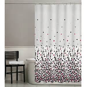 black and pink shower curtain posy shower curtain in pink black bed bath beyond
