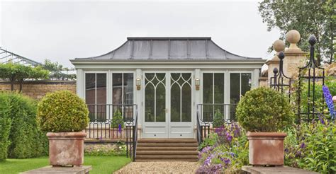 metal garden rooms a free standing garden room with curved lead roof overlooks beautiful gardens in rutland