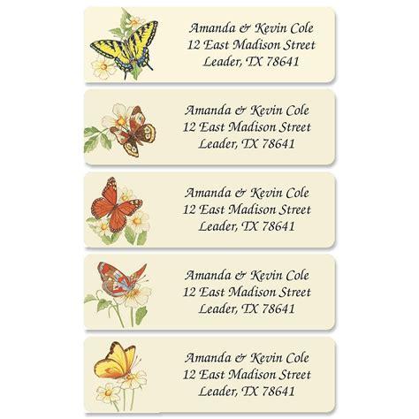 butterflies designer rolled return address labels butterflies designer rolled address labels current catalog