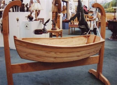 wooden boat rocker plans rock your baby to sleep in this beautiful wooden cradle boat
