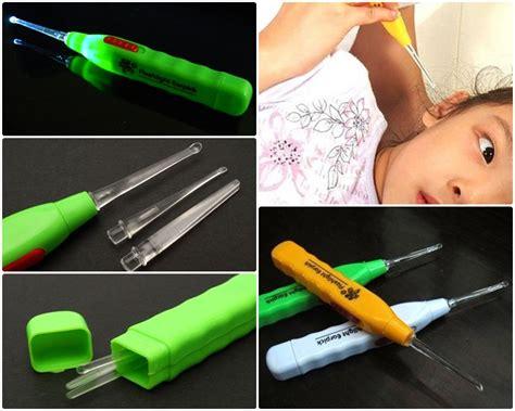 Pembersih Telinga Led led flashlight earpick clean pembersih telinga white