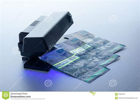 Protection Light On by Security Features On Banknote In Uv Light Protection Stock Photo Image 55981537