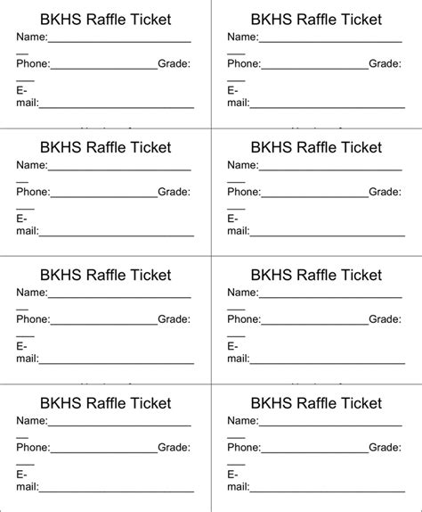 Raffle Ticket Templates Word Templates Docs Free Editable Raffle Ticket Template