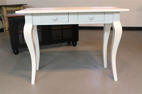 Handcrafted Desk - crafted small white wood desk by ecustomfinishes