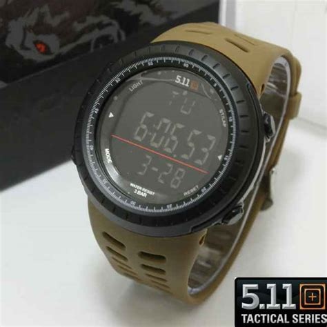 Jam Tangan 5 11 Black Wolf jual jam tangan 511 tactical digital black wolf series