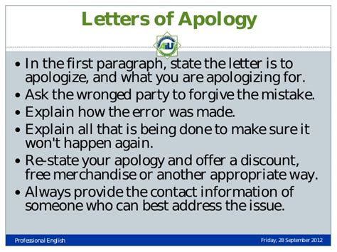 Explanation Letter For Mistake At Work Types Of Business Letters