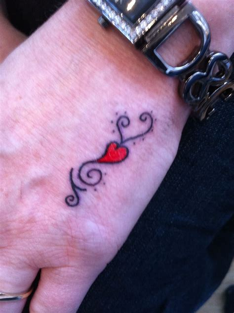 heart couple tattoos