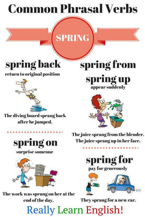 english phrasal verbs in common phrasal verbs with quot spring quot the link has a great explanation of english phrasal verbs