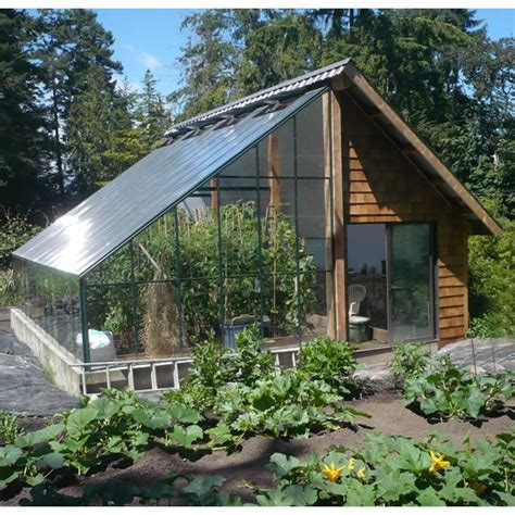 cross country attached lean  greenhouse kits  sale
