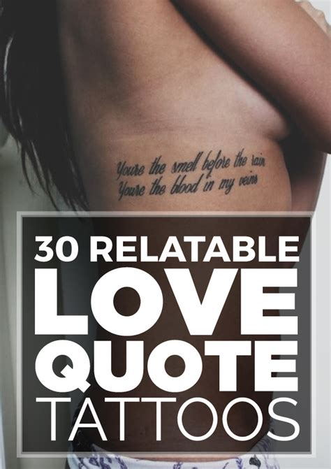 tattoos about love 30 relatable quote tattoos tattooblend