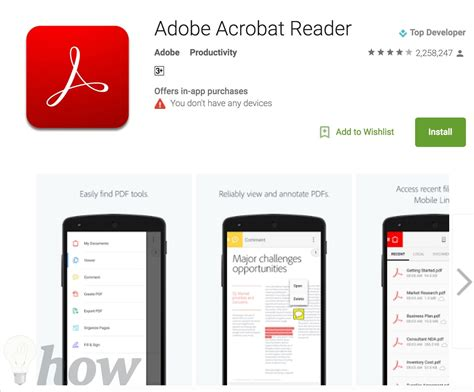 top 5 best free pdf reader apps for android to view pdf documents - Adobe Acrobat Reader For Android