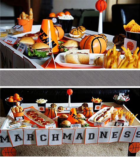 themes for basketball games basketball party ideas march madness party