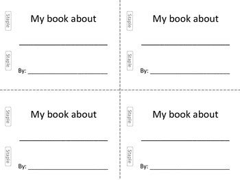 Blank Mini Book Template And Fill In Sentences By Miss Casey S Class Mini Book Template Pdf