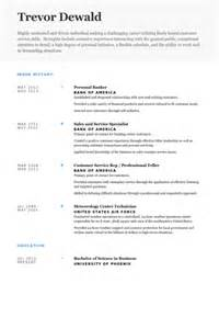 Personal Banker Sle Resume by Personal Banker Resume Sle