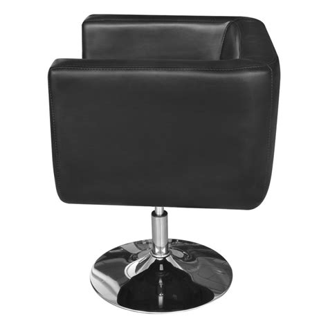 adjustable armchairs 2 black adjustable armchairs with chrome base vidaxl com